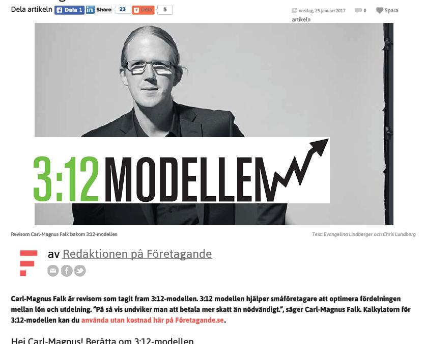 Intresset för 3:12 modellen ökar